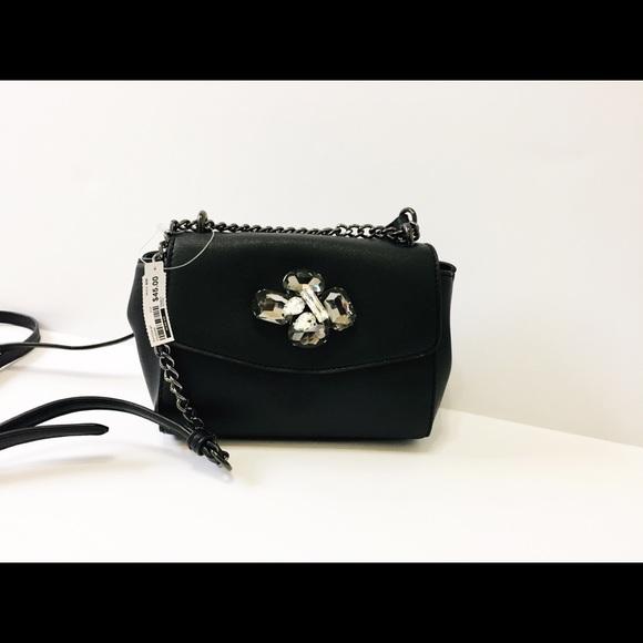 Aldo Black Rhinestone Crossbody Bag a1417c07f8d75